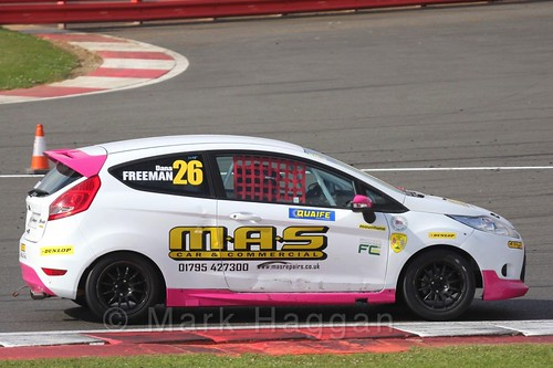 Dana Freeman in the BRSCC Fiesta Championship at Silverstone, April 2016