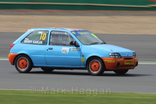 Peter Dendy-Sadler in the BRSCC Fiesta Championship at Silverstone, April 2016