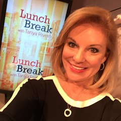 On the set for today's Lunch Break show at The Wall Street Journal.
