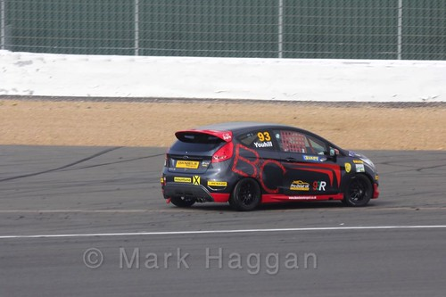 Jack Youhill in the BRSCC Fiesta Championship at Silverstone, April 2016