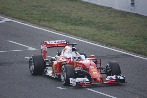 Sebastian Vettel in Formula One Winter Testing 2016