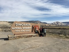 Our day begins at Dinosaur National Monument.
