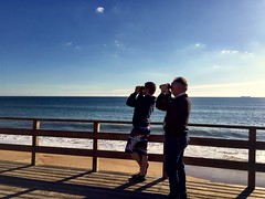 Me and dad searching for Audouin's Gulls.
