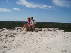 2005 01 22 2 Coba top of pyramid