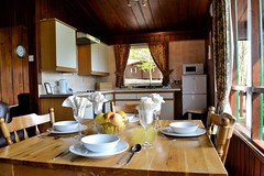 The Beeches Lodge Dining/Kitchen area