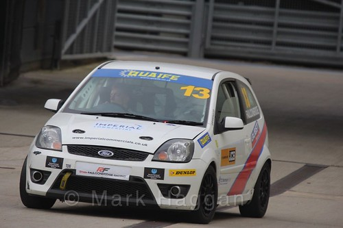 Ryan Faulconbridge in the BRSCC Fiesta Championship at Silverstone, April 2016