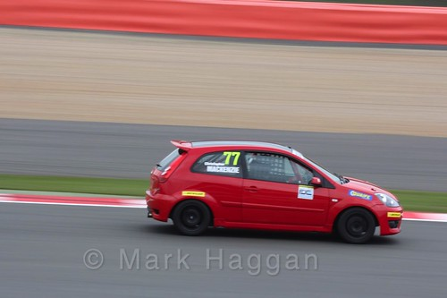 Christopher MacKenzie in the BRSCC Fiesta Junior Championship at Silverstone, April 2016