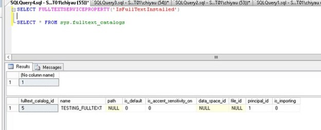 SQL Server Full Text Search Info