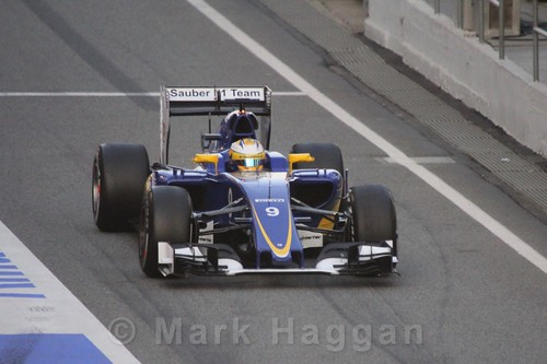 Marcus Ericsson in his Sauber during Formula One Winter Testing 2016