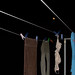 svart- Hanging laundry under the moon
