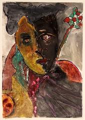 A. BEGHELLI_Provando e riprovando, linoleografia,1985
