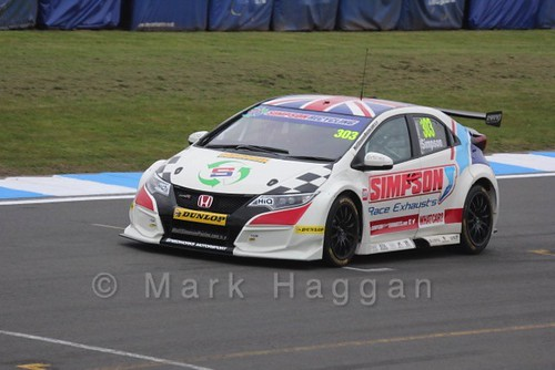 Matt Simpson in the BTCC Media Launch Event 2016
