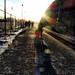 Morgon i väntan på tåget
