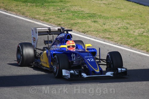 Felipe Nasr in the Sauber in Formula One Winter Testing 2016