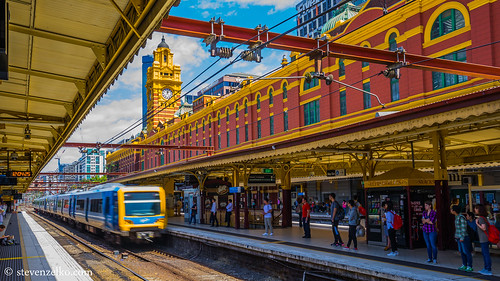Flinders St on Canvas