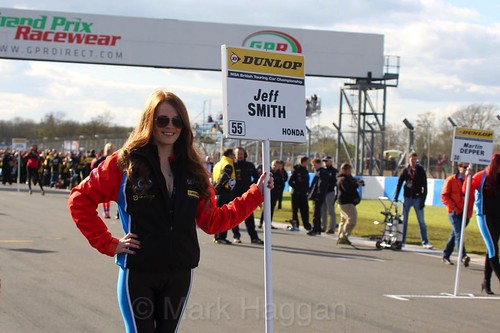 Jeff Smith during the BTCC Donington Weekend, April 2016