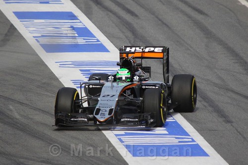 Nico Hulkenberg in his Formula One Winter Testing 2016