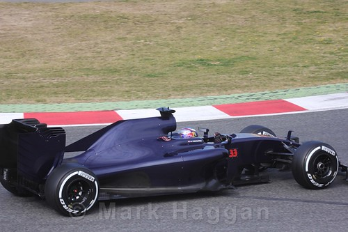 Max Verstappen in the Toro Rosso in Formula One Winter Testing 2016