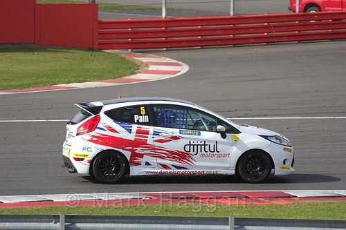 Michael Pain in the BRSCC Fiesta Championship at Silverstone, April 2016