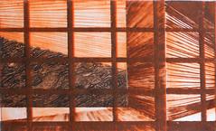M. C. FASULO_Terra, puntasecca su pvc (3 lastre-2 colori), 2005