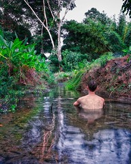 Day 314. Costa Rica has the best rivers, loads of them and almost always impeccable. About every other day I'm able to bathe in a river and wash off the thick layer of sweat stuck to me. #theworldwalk #travel #costarica