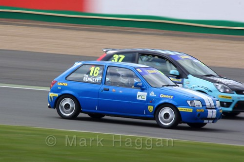 Tim Bennett in the BRSCC Fiesta Championship at Silverstone, April 2016