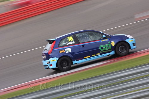Tim Glover in the BRSCC Fiesta Championship at Silverstone, April 2016