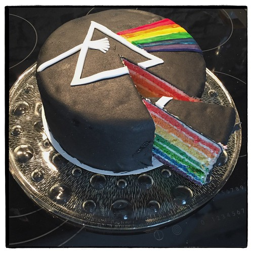 """Dark Side of the Moon Cake • <a style=""""font-size:0.8em;"""" href=""""http://www.flickr.com/photos/92578240@N08/25326425224/"""" target=""""_blank"""">View on Flickr</a>"""