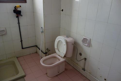 Et pour finir les toilettes : pas de papier, mais une douchette pour se nettoyer les fesses !