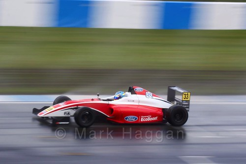 Ross Martin in British Formula Four during the BTCC Donington Weekend: 16th April 2016