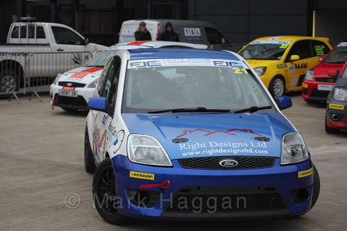 Jack Davidson in the BRSCC Fiesta Junior Championship at Silverstone, April 2016