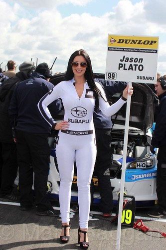 Jason Plato's grid board during the BTCC Weekend at Donington Park, April 2016