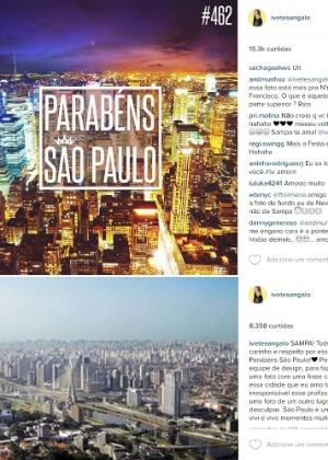 Ivete Sangalo se desculpa por parabéns a São Paulo com foto de Nova York