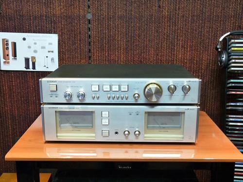 Préampli Luxman C02 et ampli Luxman M02