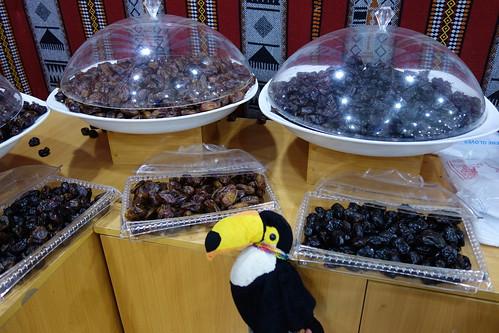 Dans le marché, on trouve notamment des dattes !