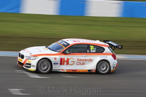 Jack Goff during the BTCC Weekend at Donington Park, April 2016