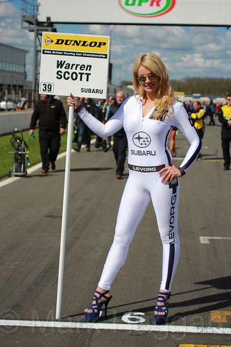 Warren Scott's grid board during the BTCC Weekend at Donington Park, April 2016