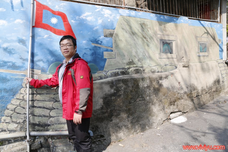 仟元鈔,台南旅遊,台南景點,天使翅膀老蔣和小蔣,彩繪牆,復興老兵文化園區,永康景點 @VIVIYU小世界
