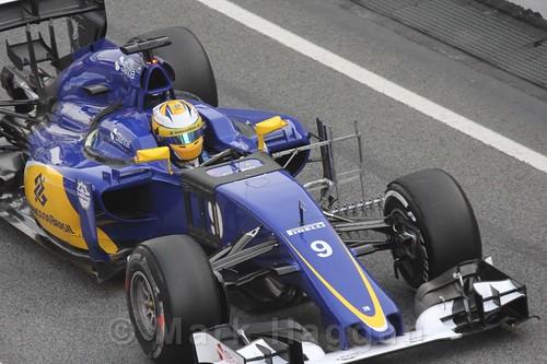 Marcus Ericsson in his Sauber during Formula One Winter Testing 2016