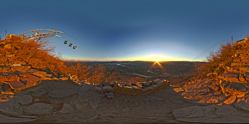 Pushkar Sonnenaufgang Panorama