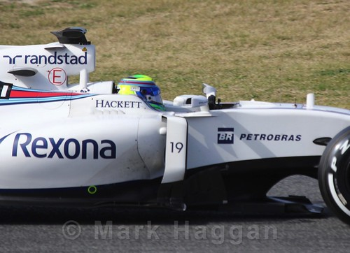 Felipe Massa in the Williams in Formula One Winter Testing 2016