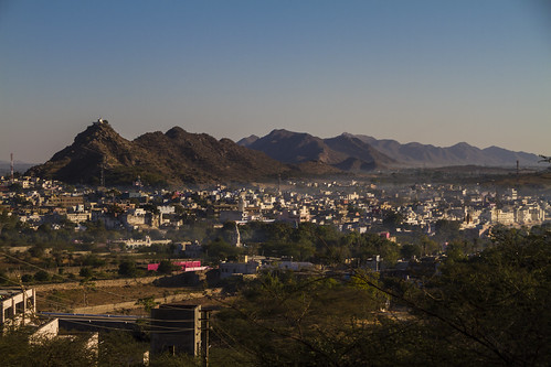 Morgennebel in Pushkar
