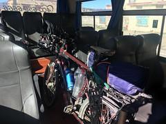 Velos im Bus von Litang nach Garze