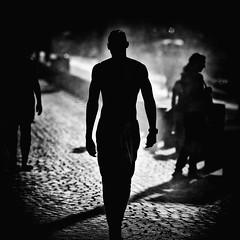 Football fan shadow...