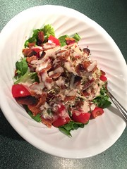 BLT salad with radish sprouts #naturallyglutenfree #glutenfree #gf