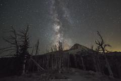 Milky Way and Mount Hood