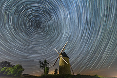 Star Trails over the old mill