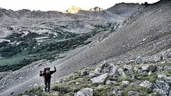 Marching up the west slope of Mount Columbia