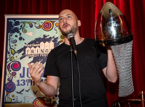 Chris at Hastings Fringe comedy Festival 2018