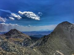 On summit looking towards Mt Lindsey (L) and Blanca Peak (R)